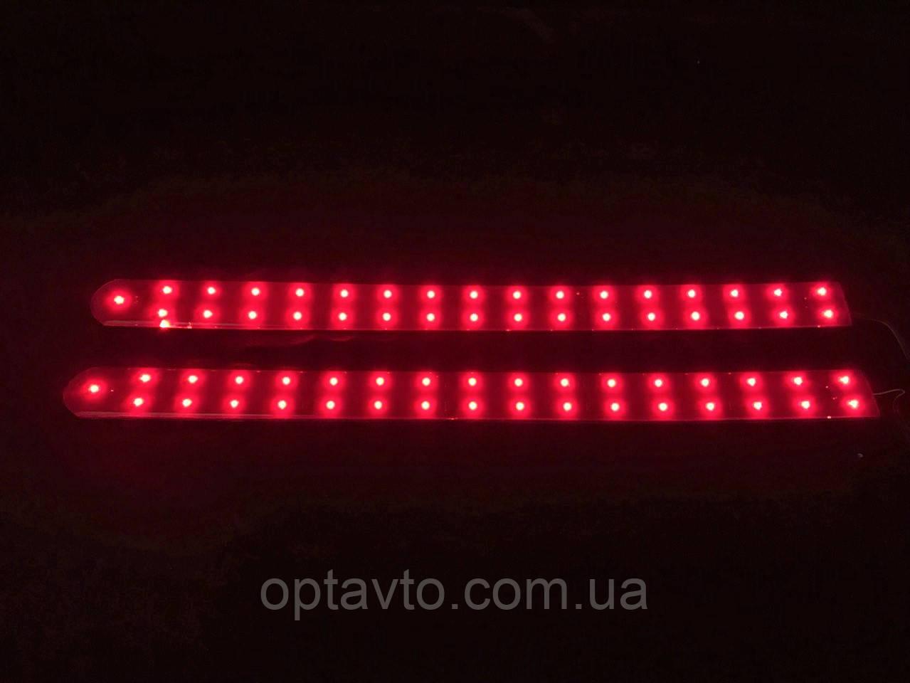 Дополнительные диодные автомобильные стоп сигналы, две полосы, 66 диодов