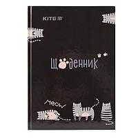 Дневник школьный в твердой обложке Kite Meow