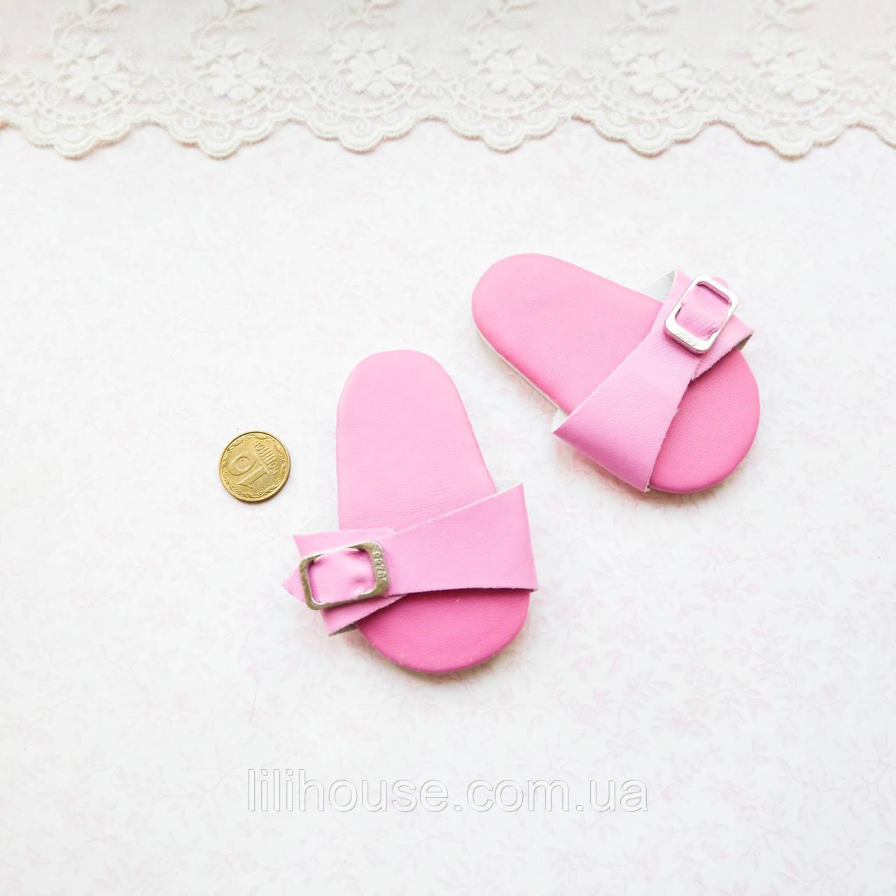 Обувь для кукол Шлепки 7*3,5 см РОЗОВЫЕ