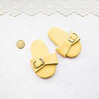 Обувь для кукол Шлепки 7*3,5 см ЖЕЛТЫЕ