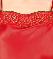 Красная атласная ночная сорочка Martelle Lingerie, фото 2
