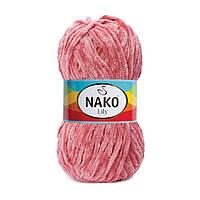 Плюшевая пряжа Nako Lily 2807 цветок бонсая (Нако Лили, Нако Лилу) нитки для вязания 100% полиэстер
