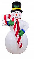 Надувной снеговик 180 см LED
