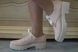 Туфлі жіночі еко-лак. Підошва: чорна та біла. Різні забарвлення. Розміри: 36-42, код 4604О