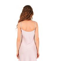 Шелковая ночная рубашка с кружевом Martelle Lingerie (рзовая пудра), фото 3