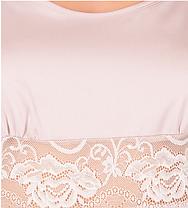 Шелковая ночная рубашка с кружевом Martelle Lingerie (рзовая пудра), фото 2