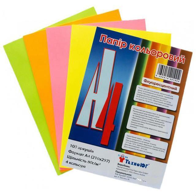 Бумага А4 Mini ассорти Neon 100 листов