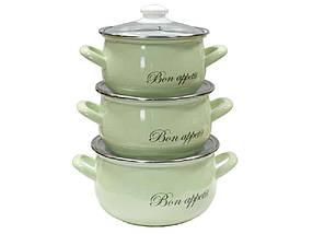 "Набір емальованого посуду 3 предмета Bon appetit ""Interos"""