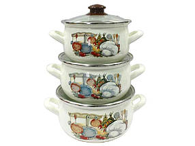 Набор эмалированной посуды Interos Вкус 3 предмета (15156)