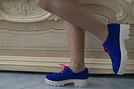 Туфлі жіночі натуральний замш. Підошва: чорна та біла. Різні забарвлення. Розміри: 36-42, код 4606О