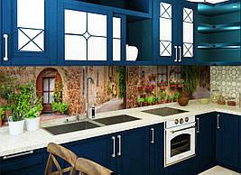 Кухонный фартук Улицы Прованса фотопечать наклейка на стеновую панель для кухни природа пейзаж 600*2500 мм