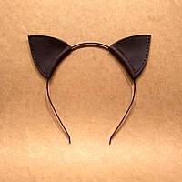 Кожаные ушки на ободке. Обруч для волос Ушки