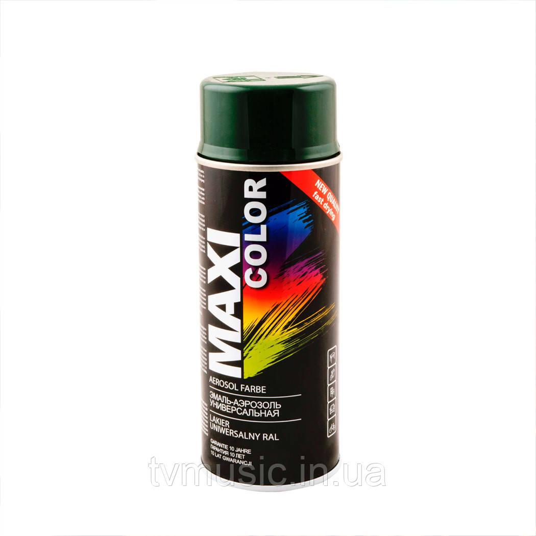 Аэрозольная краска Maxi Color RAL 6009 Зеленая ель 400 мл