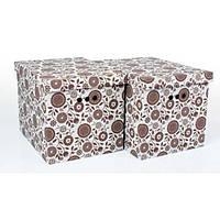 Набор картонных ящиков для хранения XL, подсолнух 2шт