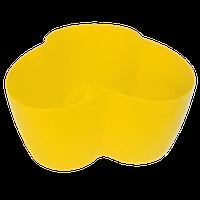 Горшок для кактусов 18х10,5х9 см (кактусник) желтый 0,9 л , Украина