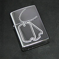 Зажигалка Zippo 24836 DOG TAG HIGH POLISH CHROME