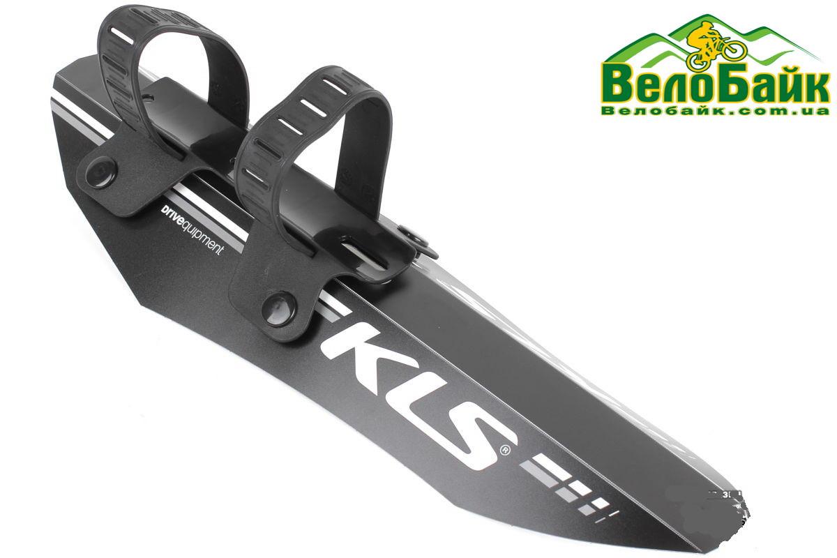 """Крило (бризговик) 26-27.5"""" KLS SHIELD F переднє чорний/сірий (99008791)"""
