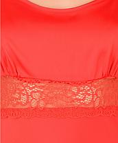 Шелковая ночная рубашка с кружевом Martelle Lingerie (красная), фото 2