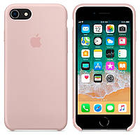 Чехол Apple Silicone Case Apple iPhone 7, iPhone 8 Бледно - Розовый