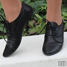 Туфлі жіночі на шнурках шкіряні. Підошва: чорна та біла. Різні забарвлення. Розміри: 36-42, код 4611О