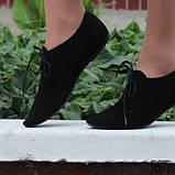 Туфли женские на шнурках кожаные. Подошва: черная и белая. Разные расцветки. Размеры: 36-42, код 4611О, фото 2