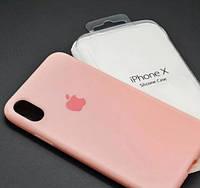 Чехол Apple Silicone Case Apple iPhone X, iPhone XS Pink