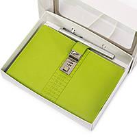 Ежедневник органайзер блокнот с кодовым замком Зеленый (AR005)