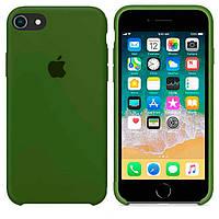 Чехол Apple Silicone Case Apple iPhone 5, iPhone 5SТёмно - Зелёный