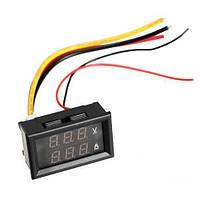 Цифровой вольтметр амперметр до 100В 10А LED (z00227)