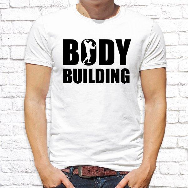 """Мужская футболка с принтом """"Bodybuilding"""" Push IT"""