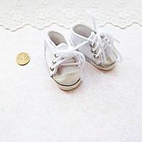 Обувь для кукол Кеды на Шнуровке 6*2.5 см БЕЛЫЕ, фото 1