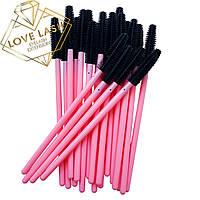 Щеточки для ресниц силиконовые Н-Розовый В-Черный