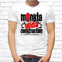 """Мужская футболка с принтом """"Monsta unda construction"""" Push IT"""