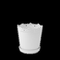 Горшок цветочный Ришелье 17х18 см белый 2 л, Украина