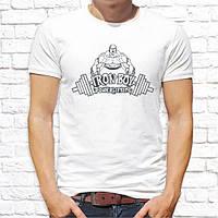 """Мужская футболка с принтом """"Iron boy powerlifting"""" Push IT"""