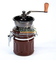 Кофемолка ручная керамическая с керамическим механизмом 250мл 17см (цвет - коричневый) Dynasty DYN-23130