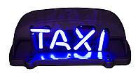 Шашки, знак Такси с неоновой подсветкой внутри
