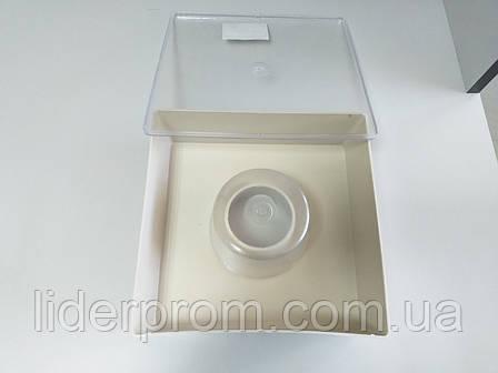 Годівниця квадратна з одним с одним стаканом 1,6 л., фото 2