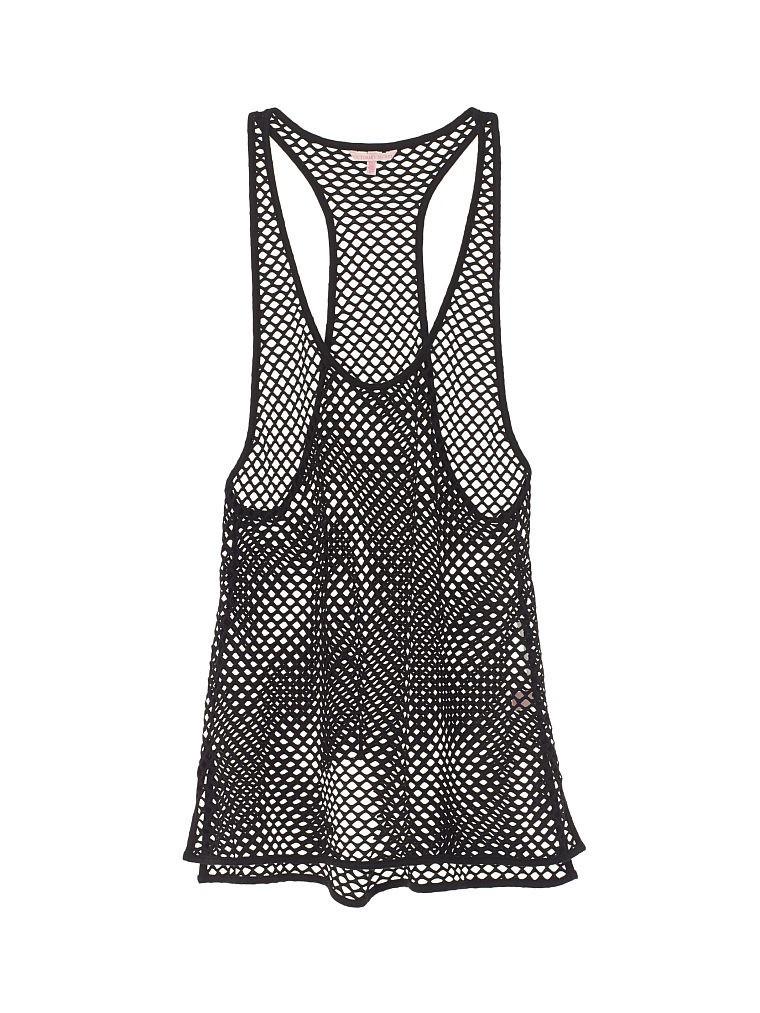 Пляжная туника Victoria's Secret чёрная сетка