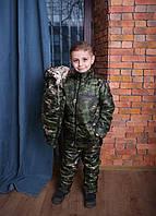 Теплый детский полукомбинезон с курткой и жилеткой Весна Осень Костюм