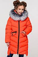 Детское зимнее пальто Афина-2 чернобурка