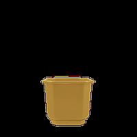 Горшок цветочный Дама   8*8  , бронзовый ,  Украина