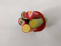 Фрукты Фимо для слайма в форме палочек, добавка в слайм, наполнитель для слайма 5шт