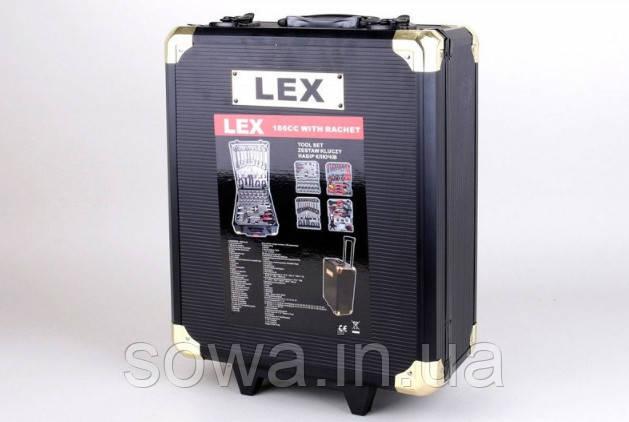 ✔️ Набор ключей LEX 186CC-2  • 186шт • C45 инструментальная сталь и Cr-V (хром-ванадый)