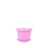 Горшок цветочный Терра 10х8 см розовый 0,35 л , Украина