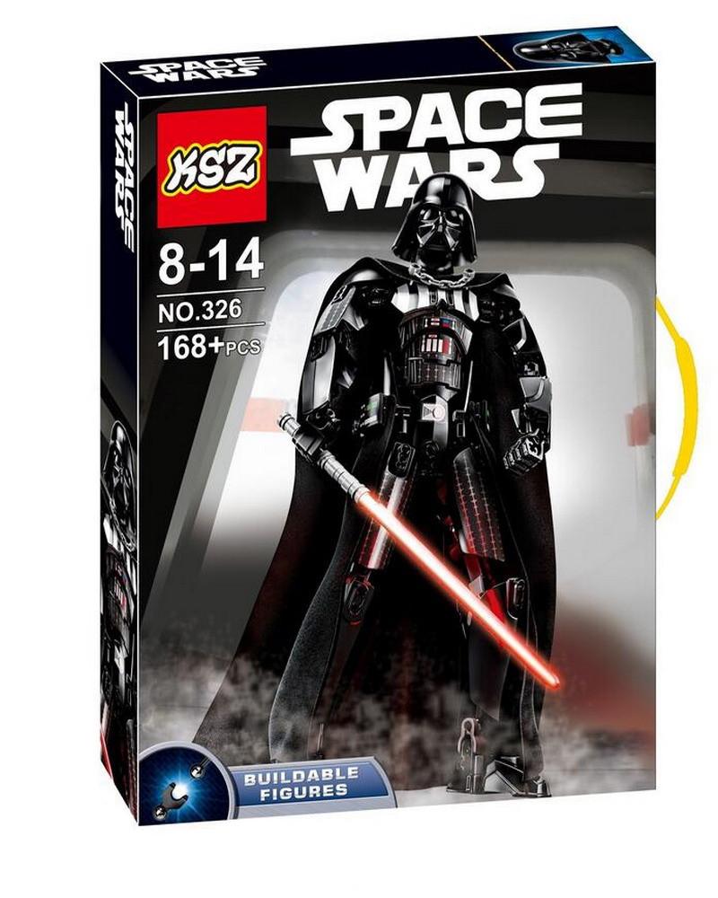 Конструктор KSZ 326 Звездные Войны (реплика LEGO Star Wars 75534) Дарт Вейдер 168 дет