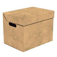 Ящик для хранения картонный ONE, оранжевый мрамор