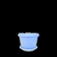 Горшок цветочный Терра 10*8, голубой , Украина