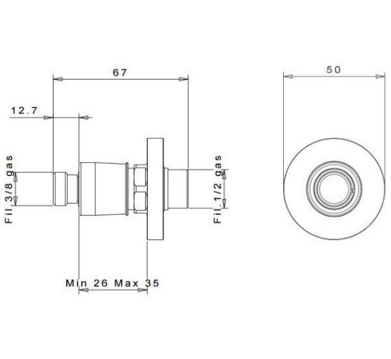 """inGENIUS IG100R-3/8G соединение без фильтра 3/8"""""""
