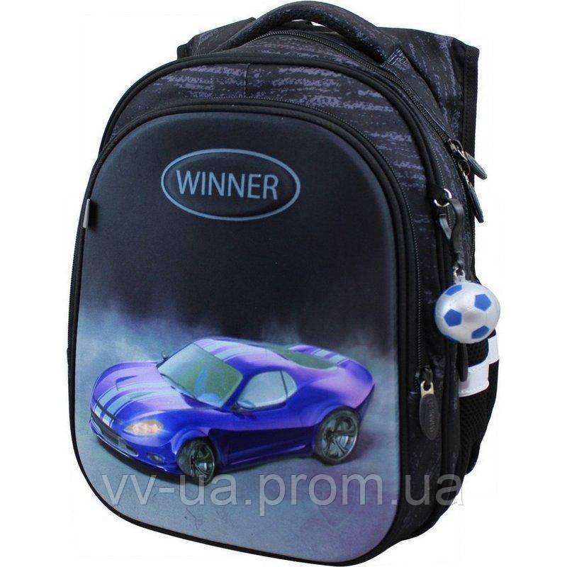 Рюкзак школьный Winner-Stile, для мальчиков, черный (8072)